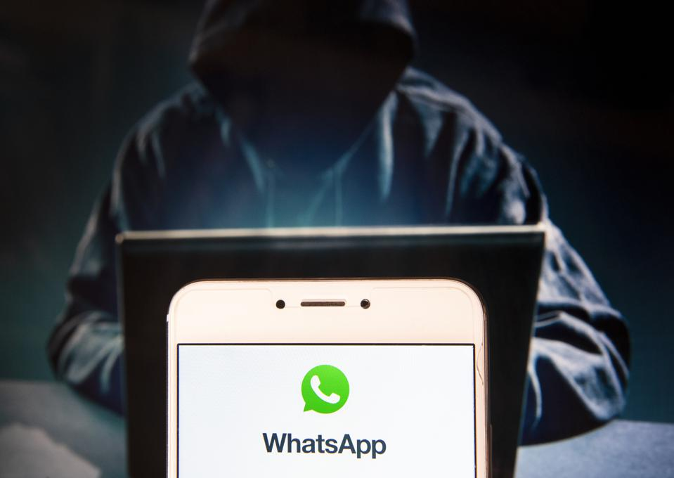 Encrypted instant messaging application WhatsApp logo is