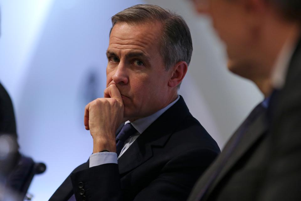Mark Carney, Governor of the Bank of England, holds Financial Stability Report Press Conference.
