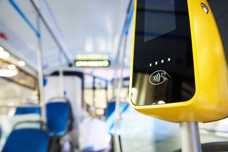 Payment terminal in bus