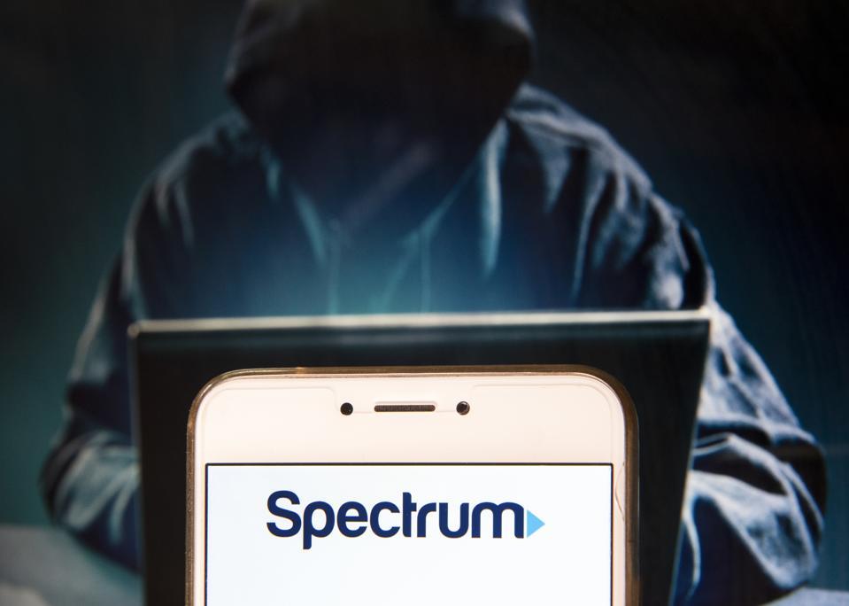 American telecommunications company Spectrum logo is seen on