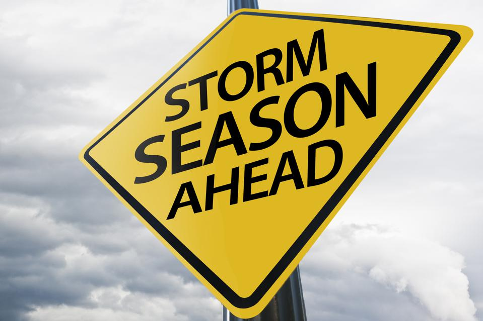 STORM SEASON AHEAD / Warning sign concept (Click for more)