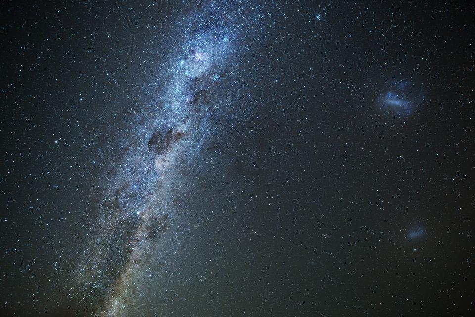 Milky Way and night sky at South Island New Zealand