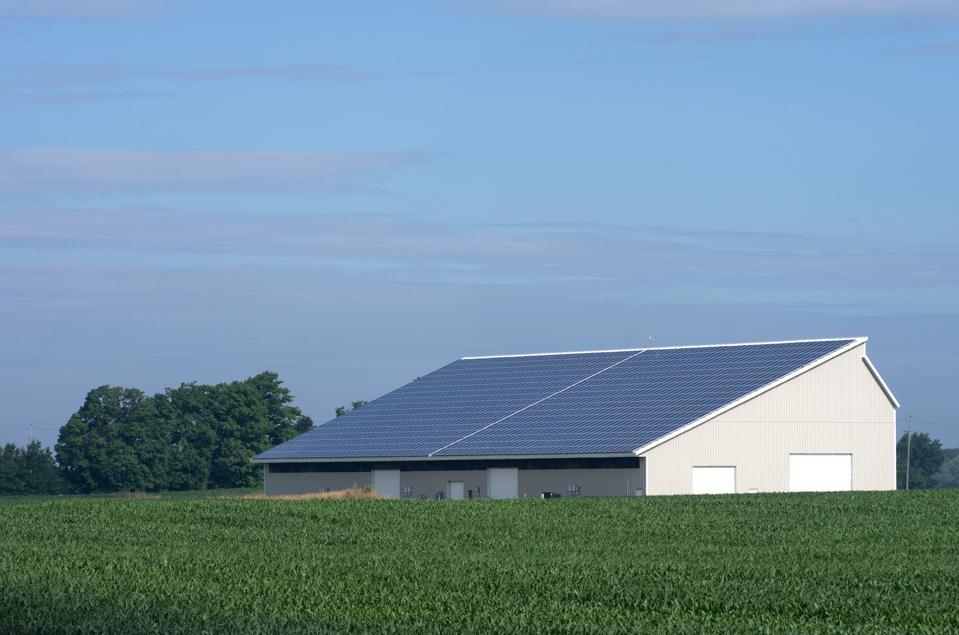 Ag Building With Solar