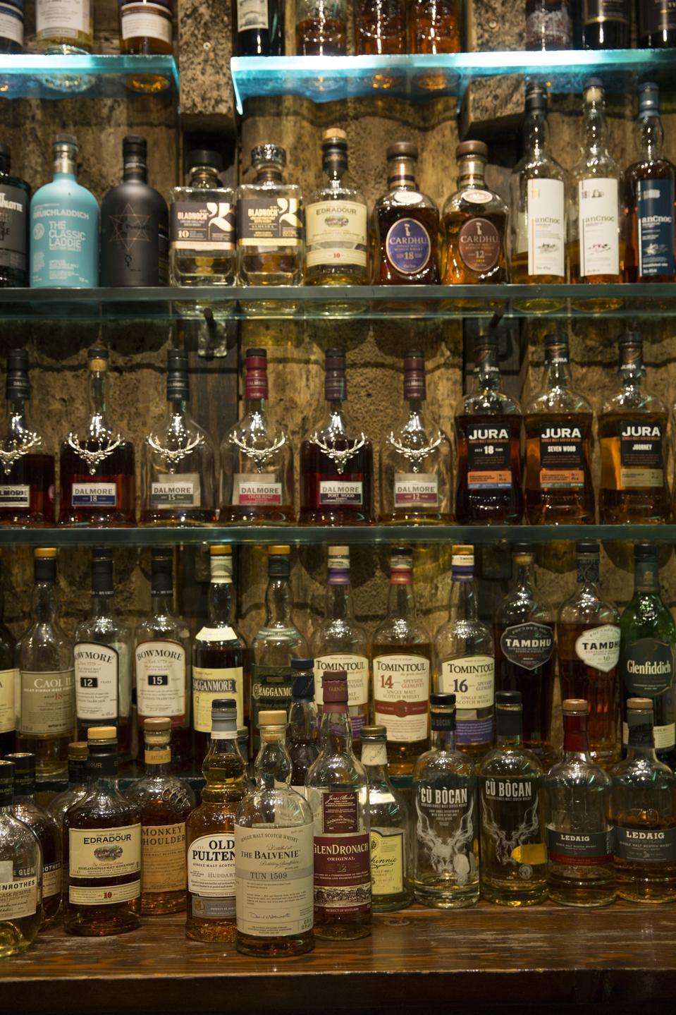 The Ben Nevis Whiskey Bar Glasgow Scotland