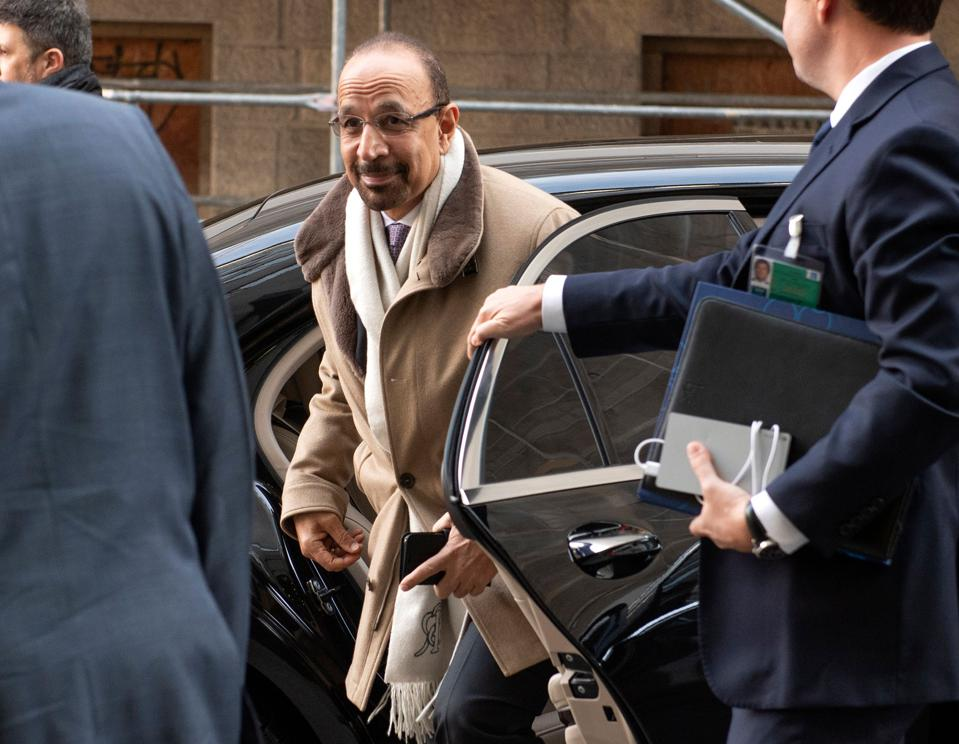 Saudi oil minister Khalid al-Falih arrives at the OPEC meeting in Vienna.