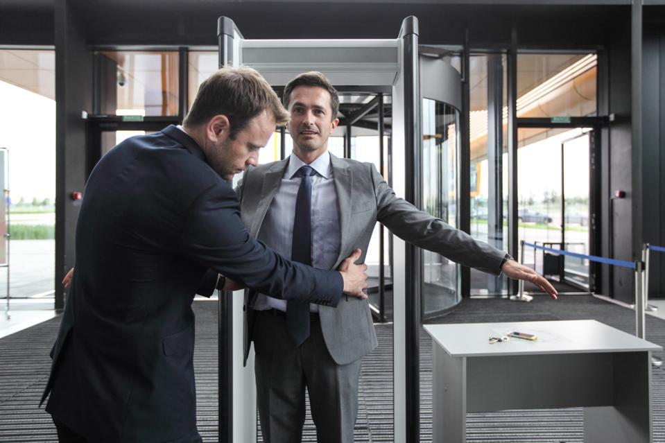 Security check businessman