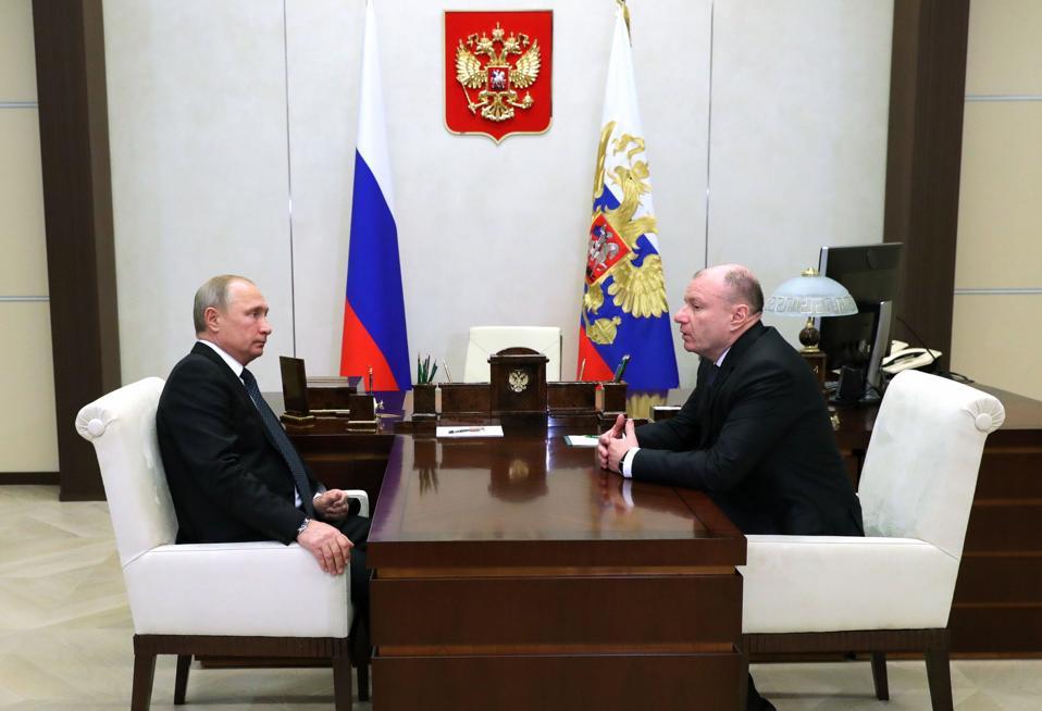 Russian President Putin meets with Norilsk Nickel Head Potanin