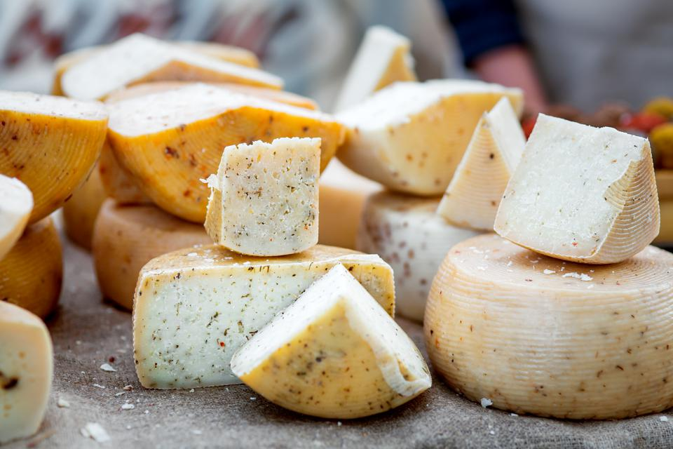 the Hard varieties of goat cheese.
