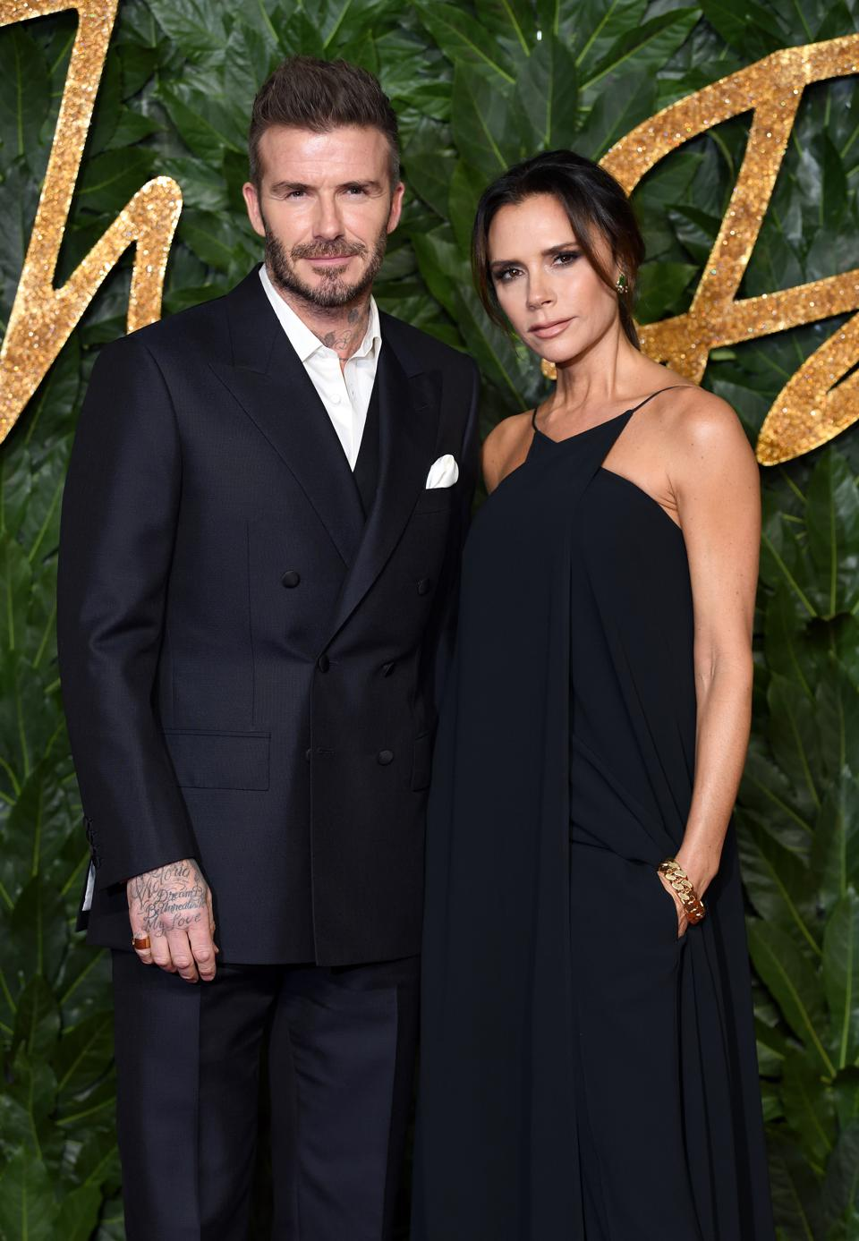 Victoria and  David Beckham at The Fashion Awards 2018 In Partnership With Swarovski
