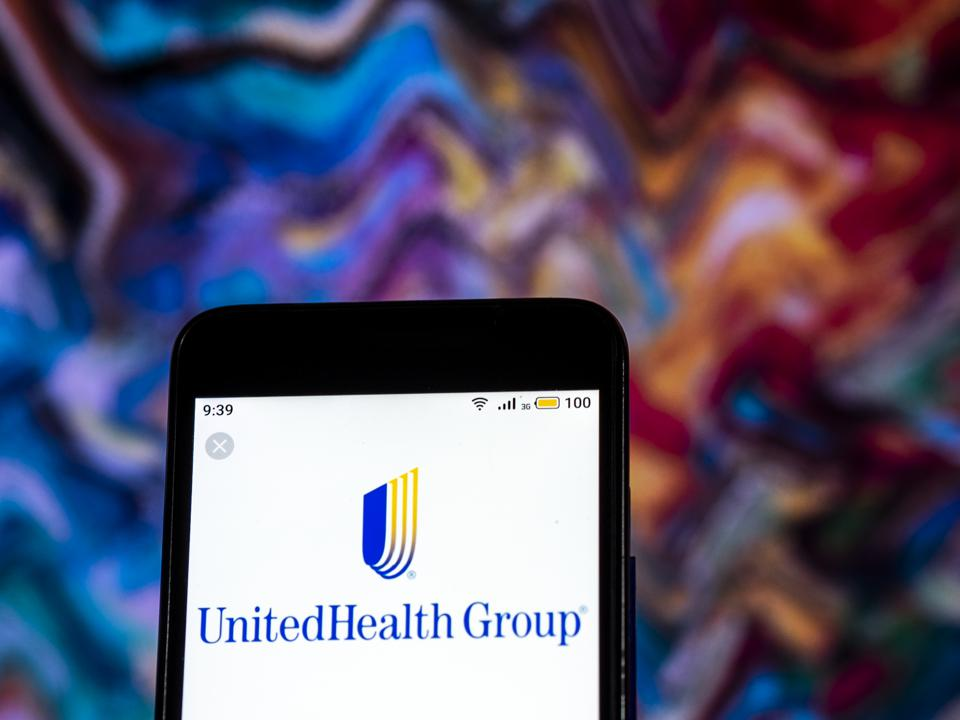 UnitedHealth Group Managed care company  logo seen displayed