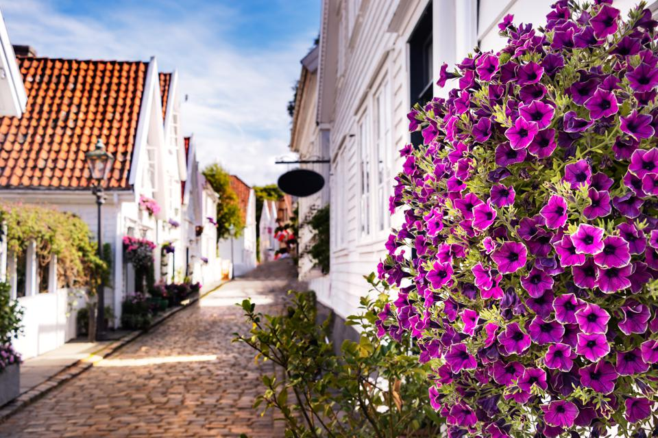 The old town of Stavanger, Norway.