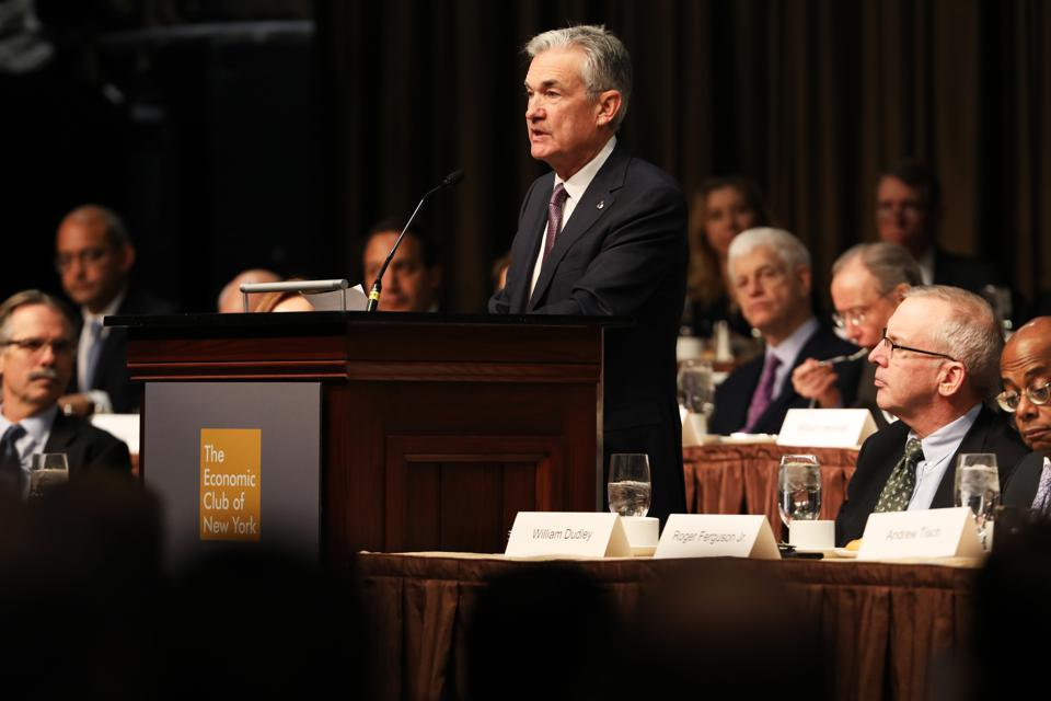 Fed Chair Jerome Powell Discusses Monitoring Financial Stability In NYC