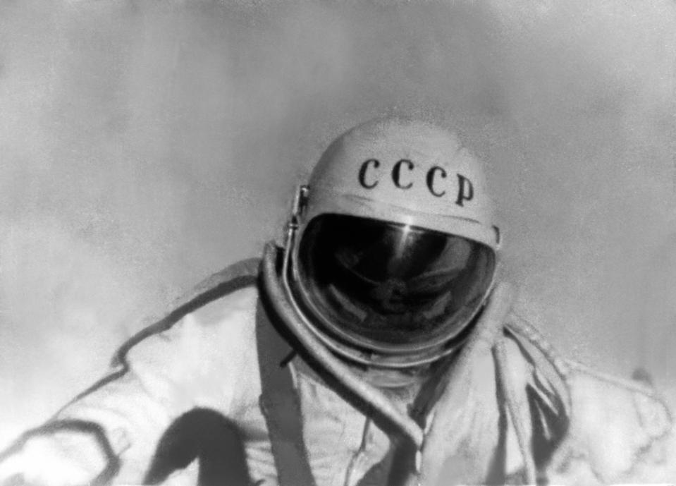 First Man In Space The Soviet Cosmonaut Alexei Leonov On March 18 Th 1965