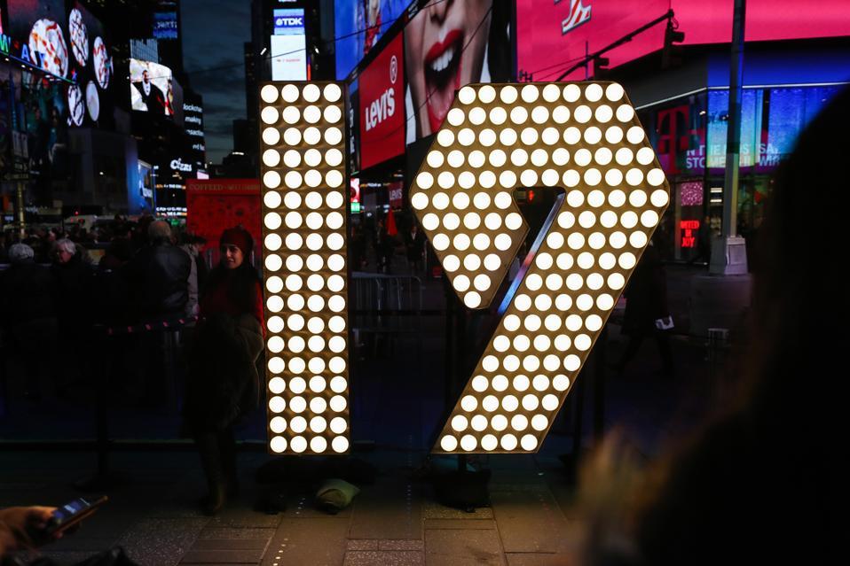 Angka Untuk Perayaan Malam Tahun Baru Times Square Disampaikan ke Times Square