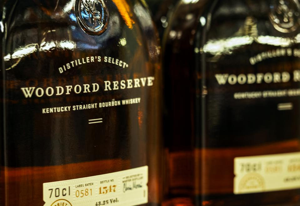 Woodford Reserve whisky seen in the store...