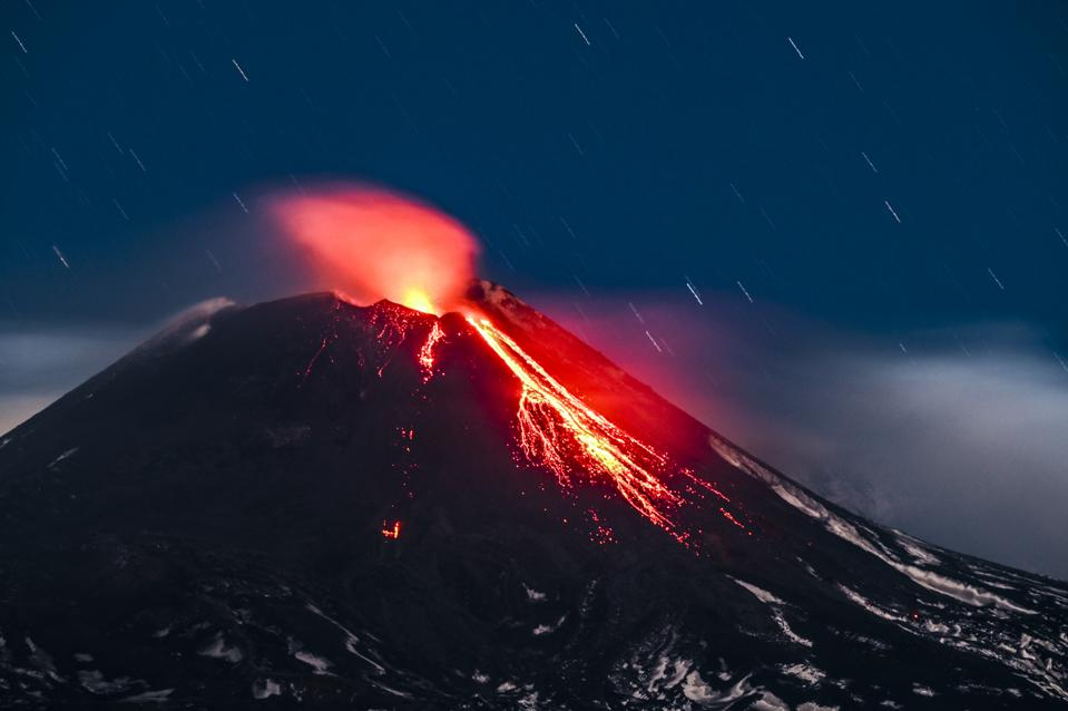 New Volcanic Activity At Mount Etna