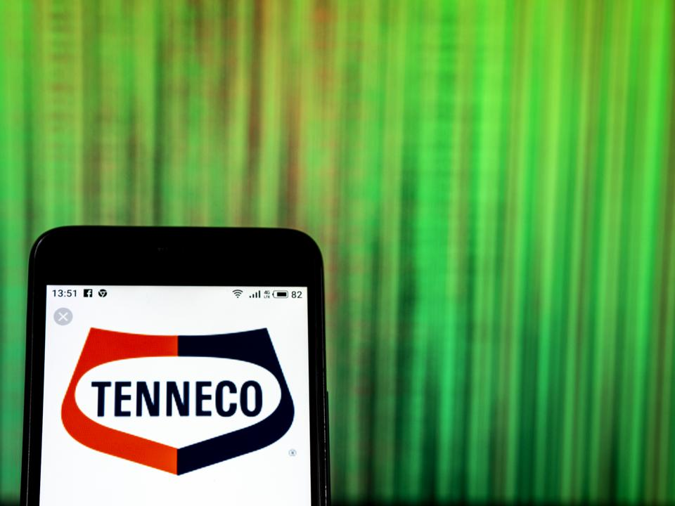 Tenneco Company logo seen displayed on smart phone