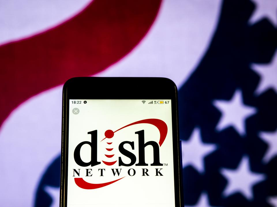 Dish Network Satellite television company logo seen