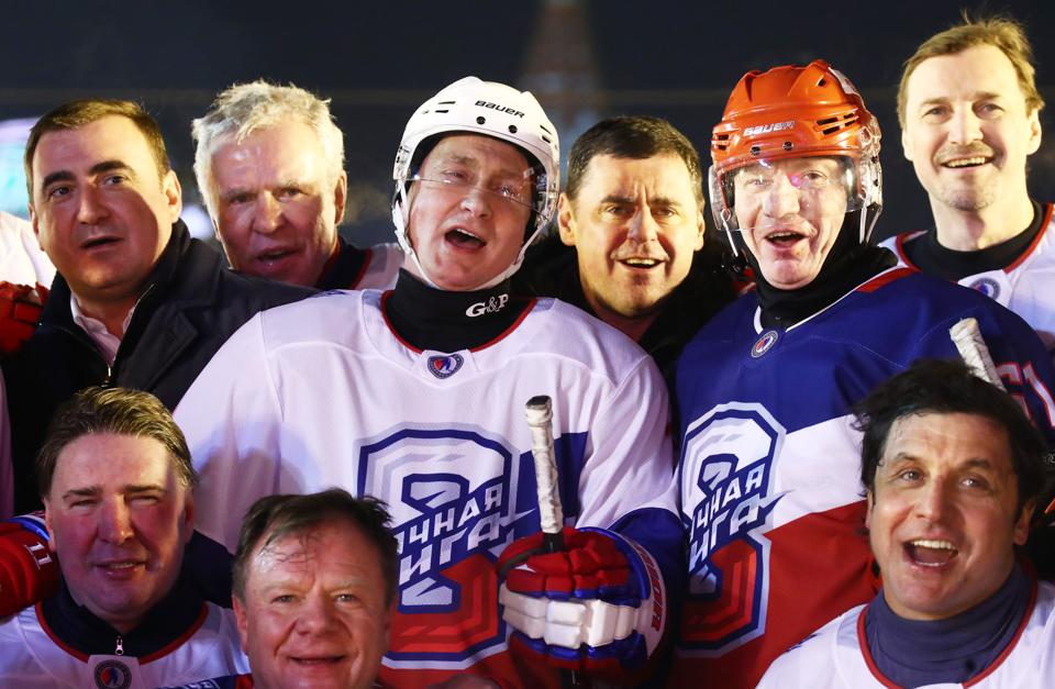 President Putin takes part in ice hockey match in Red Square