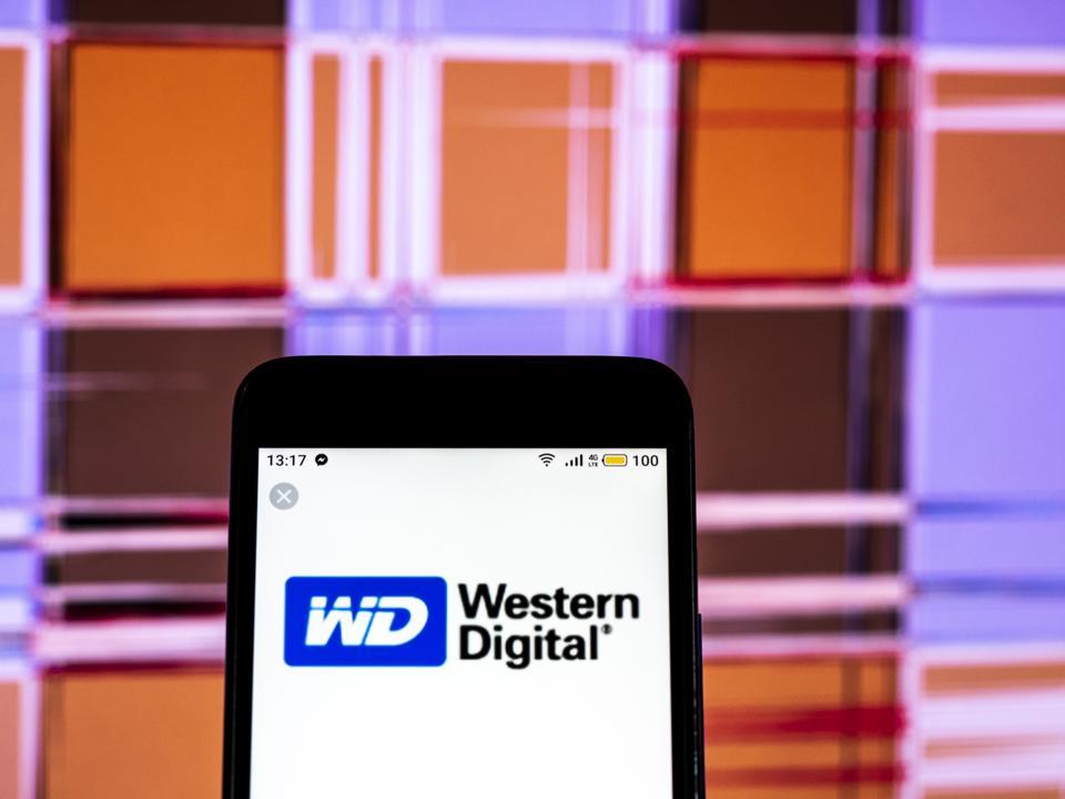 Western Digital Computer company logo seen displayed on a