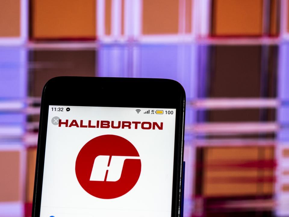 Halliburton Energy management company logo seen displayed on