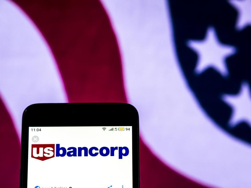 U.S. Bancorp Bank holding company logo seen displayed on a