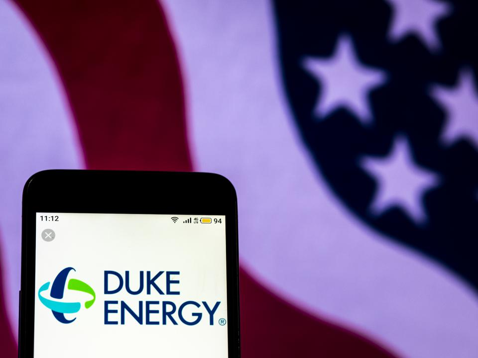Duke Energy Electricity company logo seen displayed on a