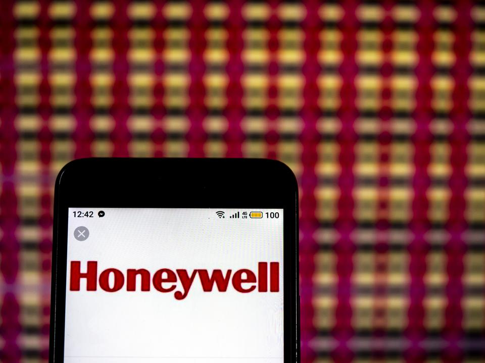 Honeywell Multinational conglomerate company  logo seen