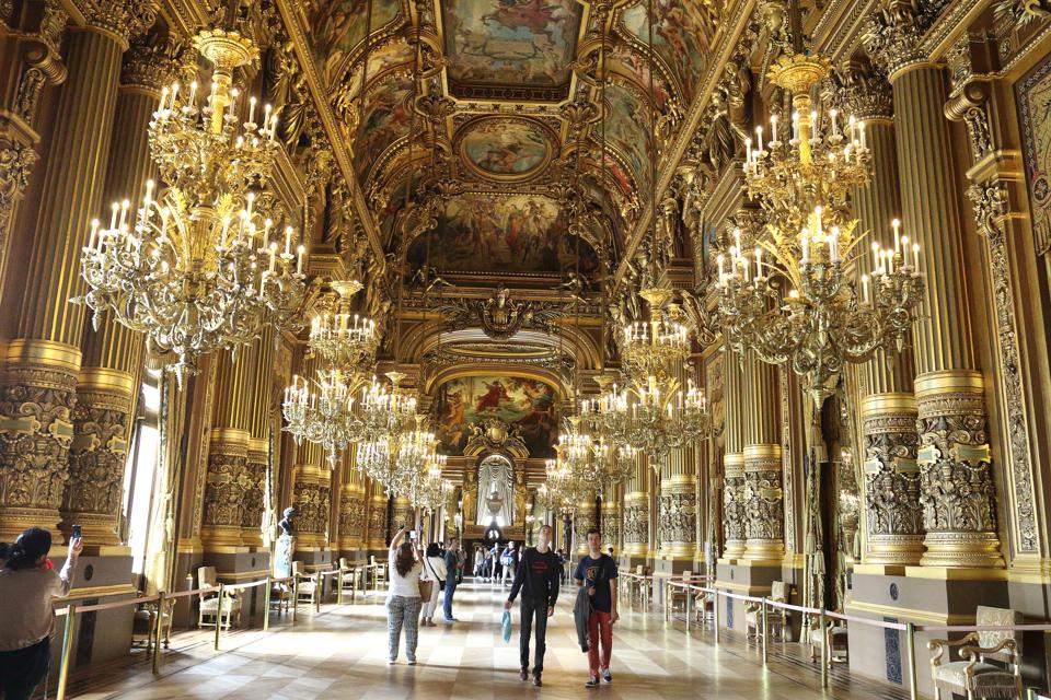 Interior view of the Palais Garnier (Paris Opera House),...
