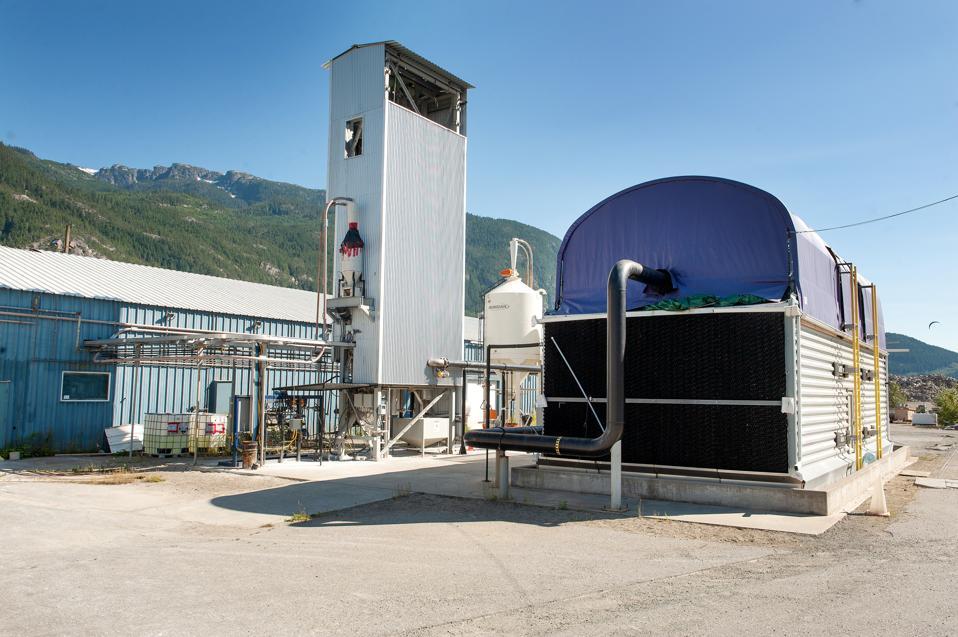 The Carbon Engineering Squamish plant.  Squamish, British Columbia, Canada. Saturday, July 14th, 2018.