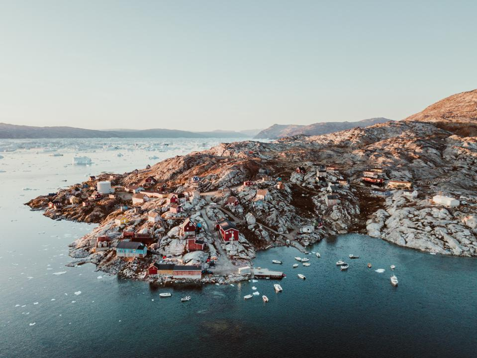 Fishing village in East Greenland