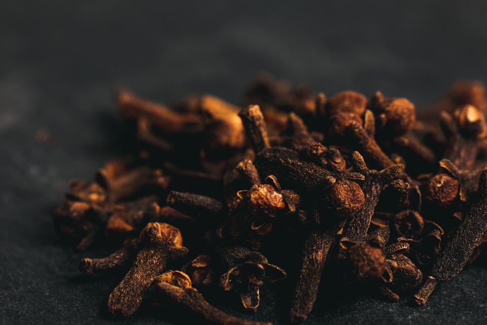 Dark food shot of cloves