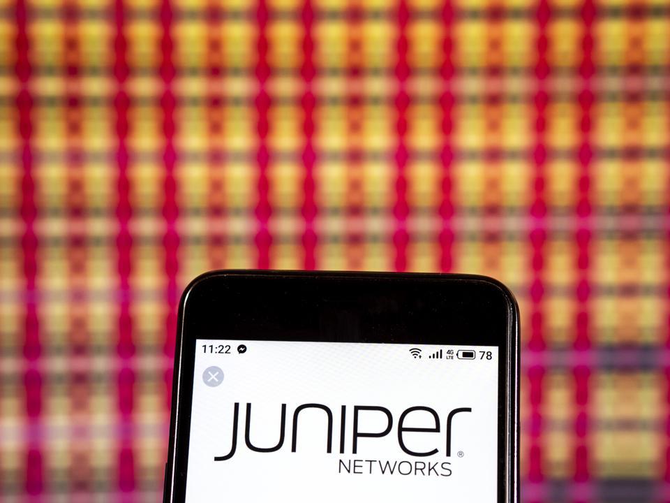 Juniper Networks Software developer logo seen displayed on a