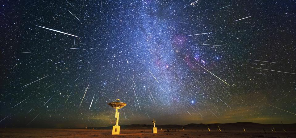 Gemini meteor shower, Ming'antu Observatory, Xilingol, Inner Mongolia, China, December 14, 2018. Costfoto / Barcroft Images (Photo credit should read Costfoto / Barcroft Images / Barcroft Media via Getty Images)