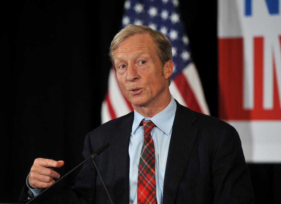 Billionaire Activist Tom Steyer Makes An Announcement On Presidential Plans In Iowa