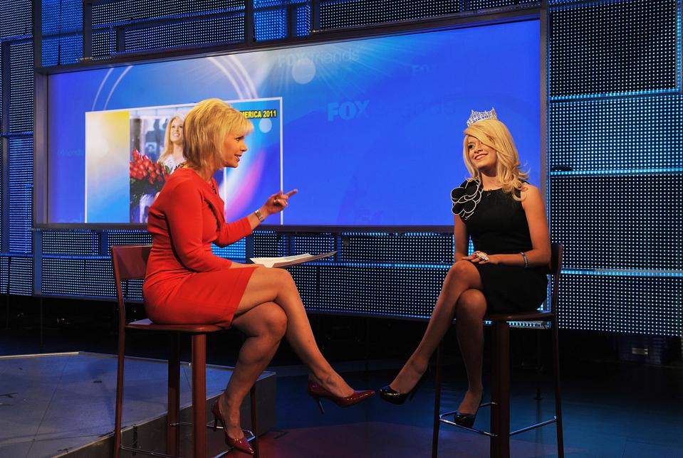 Miss America 2011 And Evander Holyfield Visit ″Fox & Friends″