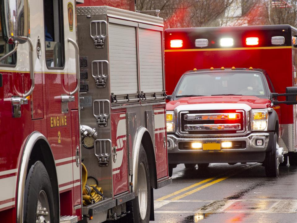 Emergency vehicles responding