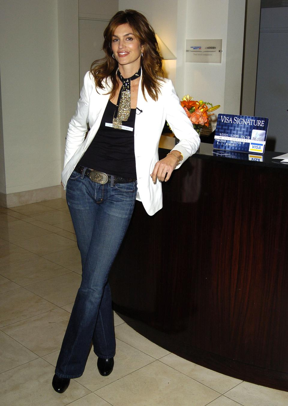Cindy Crawford Visits The Le Meridian Hotel  to Promote The Visa Signature Card