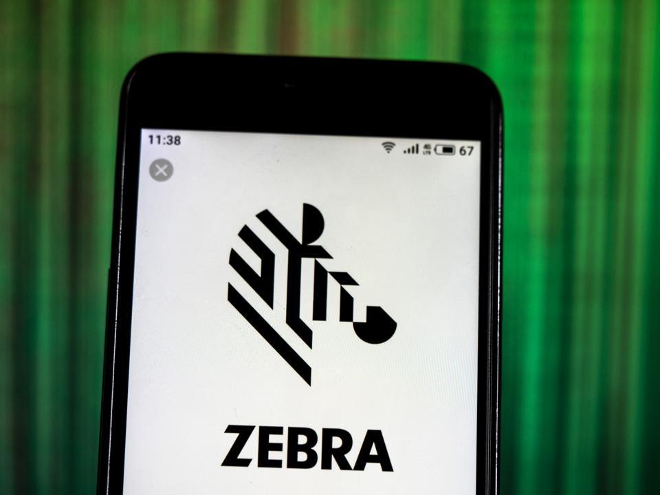 Zebra Technologies Public company logo seen displayed on a