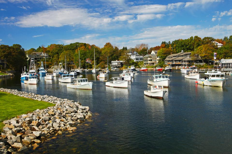 Boats in Perkins Cove, Ogunquit, Maine