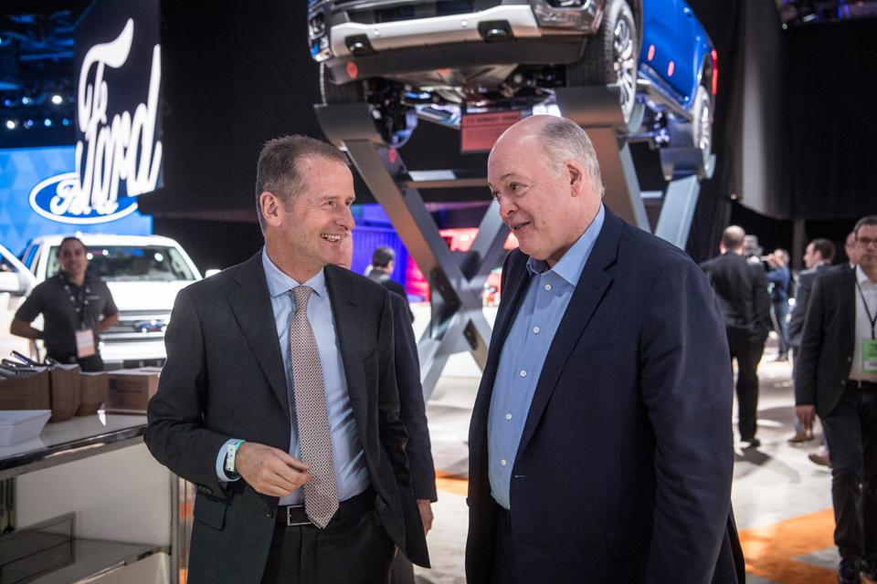 Motor show in Detroit - VW and Ford