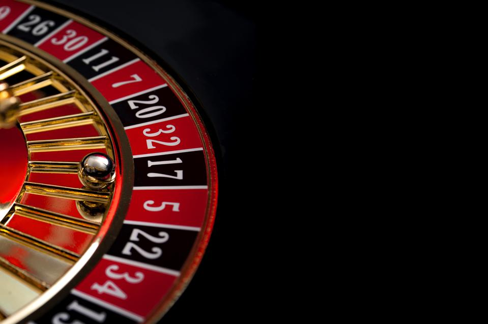 Gambling, casino games and the gaming industry concept with seventeen the winning number, 17 is a black number on the roulette wheel with copyspace