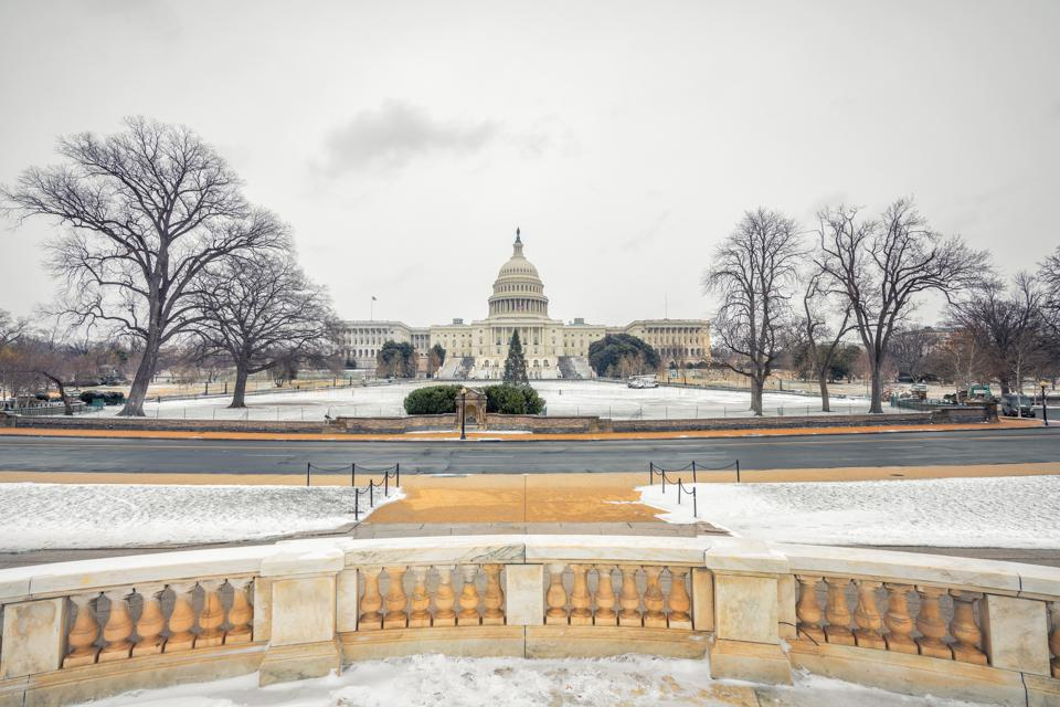 US Capitol in Washington DC at winter