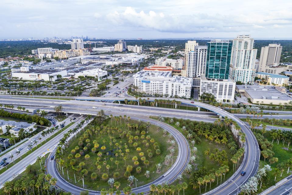 Miami, Town Center One At Dadeland, Palmetto Expressway Aerial