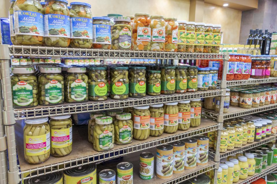 Florida, Coral Gables, Original Daily Bread Marketplace, pickles