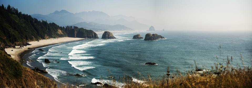 Pacific Coast Highway Panoramic view, Oregon. USA.