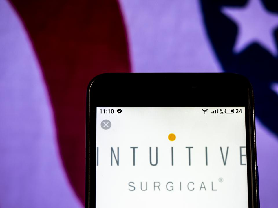 Intuitive Surgical Corporation logo seen displayed on a