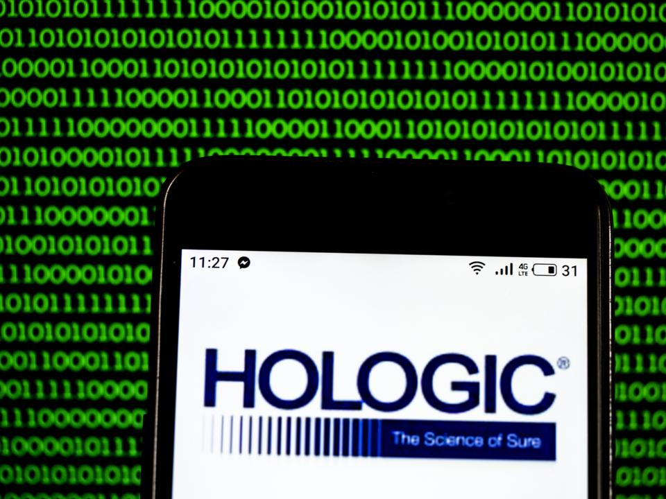 Hologic Medical device company logo seen displayed on a