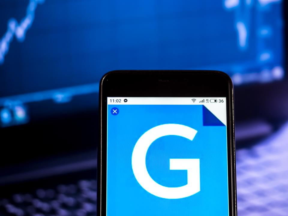 Gannett Media company logo seen displayed on a smart phone