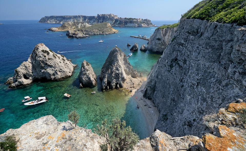 seascape of Tremiti Islands, Italy, on a summer day